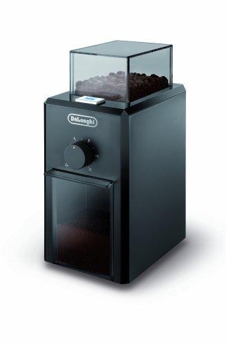 DeLonghi KG 79 Professionelle Kaffeemühle (Kunststoffgehäuse, bis zu 12 Tassen) schwarz