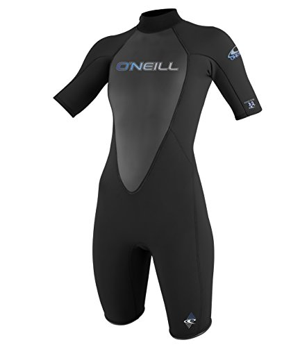 ONEILL WETSUITS O'Neill Wetsuits Damen Neoprenanzug Reactor 2 mm Spring Wetsuit, Black, 10, 3801-A05