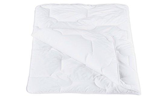 ZOLLNER kochfeste Kinderbettdecke / Kinderdecke / Babydecke versteppt, Größe 100x135 cm weiß, direkt vom Hotelwäschehersteller, Serie 'Bambini'