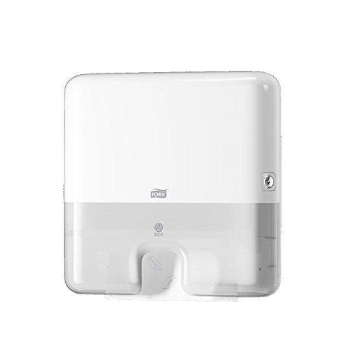 Tork 552100 Xpress Mini Spender für H2 Multifold Handtücher im Elevation Design/Papiertuchspender für hygienische Einzeltuchentnahme in weiß