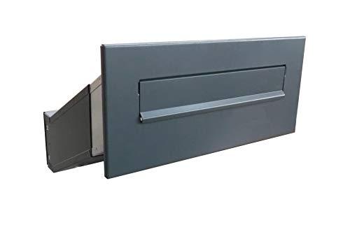 D-041 Anthrazit (RAL 7016) Mauerdurchwurf Briefkasten (variable Tiefe) - LETTERBOX24.de