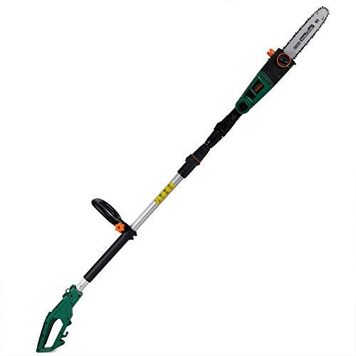 Gardebruk Elektro Astsäge | 750 W | 26 cm Schwertlänge | 4m Arbeitshöhe | verstellbar | Teleskop Kettensäge Hochentaster