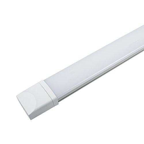 J&C LED Feuchtraumleuchte Ultraslim 60CM mit 18W in Tageslicht 4000K mit PC Abdeckung 1400 Lumen Dank Schutzart IP65 sowohl für den Innen- als auch Aussenbereich