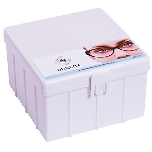 BRILLOX - Brillenreinigungs-Gerät ohne Strom oder Ultraschall + 100ml Brillenreiniger - Optiker Reinigung für Zuhause - perfekte Brillenreinigung in Sekunden - Brillenputzgerät und Brillenbad