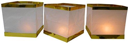 GW Handels UG 10 Stück Wasserlaterne Schwimmlaterne Schwimmkerzen Lampion Laterne Teelicht Kerze Windlicht Weiß Schwimmlicht Outdoor Deko