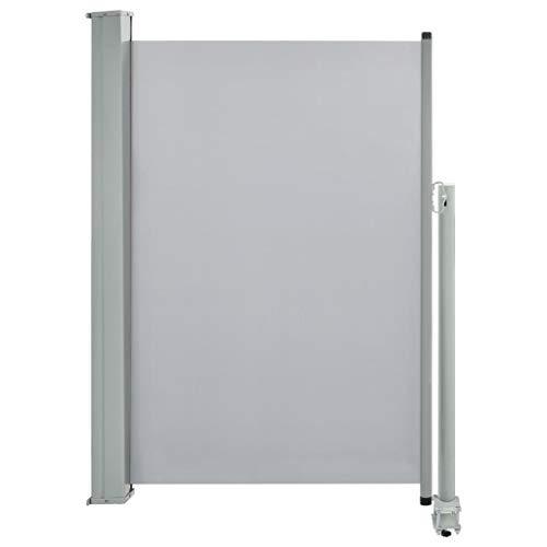 vidaXL Seitenmarkise Ausziehbar 120x300 cm Grau Sichtschutz Windschutz Markise
