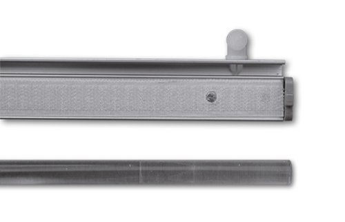 Paneelwagen für Flächenvorhang, 60 cm, Aluminium, incl. Beschwerungsstange, Röllchen und X-Gleiter, 943011