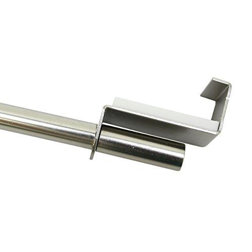 GARDINIA Spannvitrage, Ausziehbar, Montage ohne Schrauben und Bohren, Durchmesser 9 mm, Länge 90-130 cm, Metall, Titan
