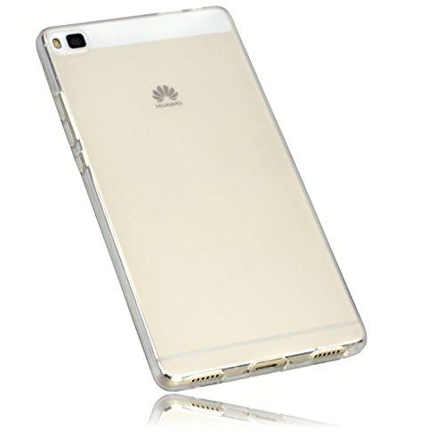 mumbi Schutzhülle Huawei P8 Hülle transparent weiss