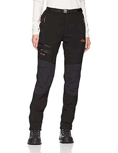 DAFENP Damen Wanderhose Wasserdicht Atmungsaktiv Schnell Trockend Leicht Outdoorhose Trekkinghose (S, A Schwarz)