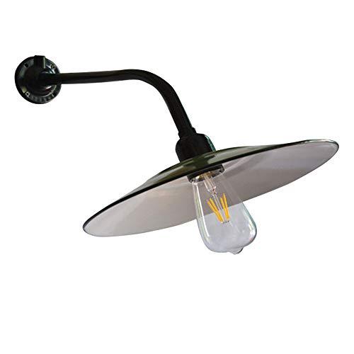 Industrie Wandleuchte Außen Schwarz Grün Metall Schirm Wandlampe Vintage Antik E27 Edison Glühbirne Wandlichter Außenlampe für Treppen Flur Terrassen Aussenwand Innenhöfe Garten
