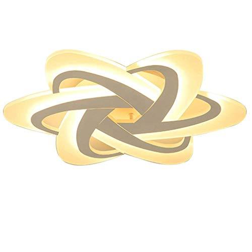 LED Dimmbar Deckenleuchte Schlafzimmerlampe Moderne Designer-Lampe Deckenlampe Kreativ Metall Acryl Florales Muster Decke Leuchte Deckenstrahler Innen Dekorativ Beleuchtung für Wohnzimmer Küche 48W
