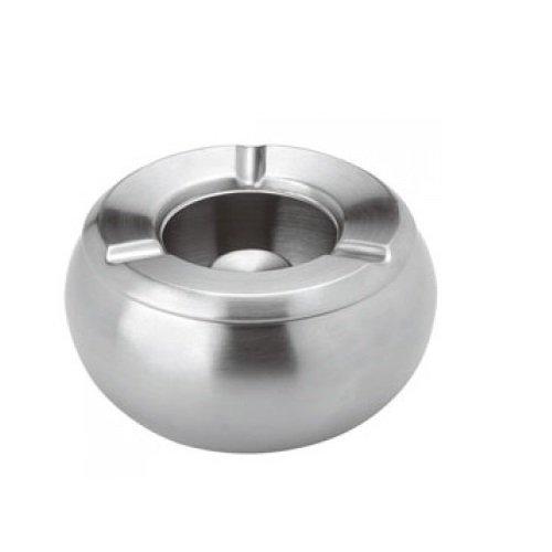 Luxpresso Windascher / Windaschenbecher Edelstahl / Aschenbecher für draußen, ØxH=10,5x6 cm