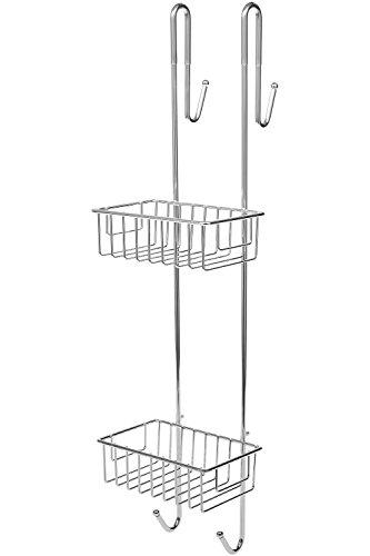 BAMODI Duschablage zum Hängen - Duschregal mit Handtuchhalter für bequeme Aufbewahrung von Shampoo und Duschgel - rutschfester Duschkorb zum Einhängen