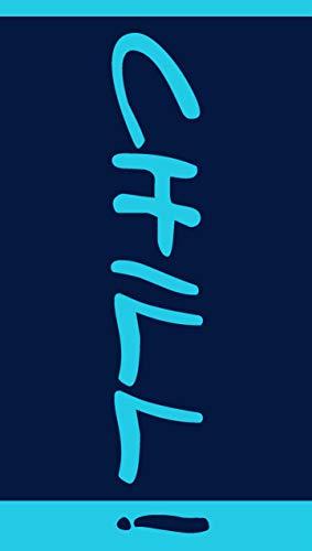 jilda-tex Strandtuch Chill - Blue 90x180 cm Badetuch