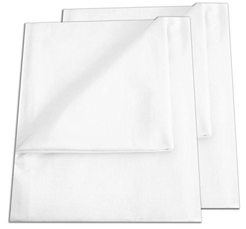 2er Pack Betttuch / Bettlaken / Haustuch 250x150 cm weiß von GREEN MARK Textilien 100% gewebte Baumwolle ...