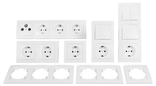 Schalter und Steckdosen-Set FLAIR 'Wohnlandschaft', 20-teilig, weiß