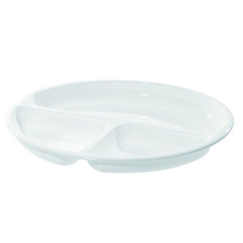 Westmark Mikrowellen-Menüteller, Ø 25 cm, Kunststoff, Weiß, 22402270