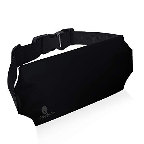 CrosFace Universelle wasserdichte Tasche Hüfttasche (iPhone X/8/7/6/XR/XS/Max/Plus, Samsung Galaxy S10/S9/S8/S7 & Mehr). Schützender Telefon Bauchtasche zum Laufen, Schwimmen, Wandern und Kanufahren.