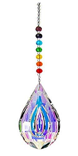 H&D Chakra Sonnenfänger mit Kristallanhängern fürs Fenster