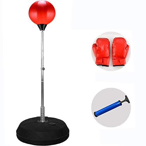 Tonyko Verstellbar freistehend Stanz Speed Ball Tasche (120cm-150cm) mit Boxhandschuhe