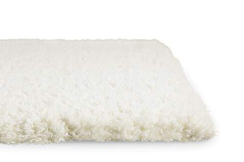 Homie Living I Hochflor Teppich I Parma I sehr flauschig und kuschelig I (Weiß, 200 x 290 cm)