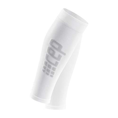 CEP - Ultralight Calf Sleeves für Damen | Beinstulpen für exakte Wadenkompression in weiß/grau | Größe II