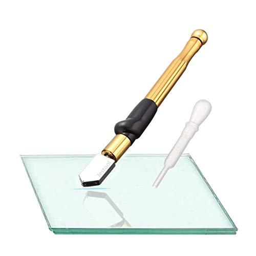 Professionelle Glasschneider, Jestool Hartmetall Wolfram Legierung Ergonomischer Griff Design Gold Öl-Feed Cutter 2-19mm für dickes Glas Mosaik und Fliesen