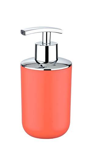 WENKO Seifenspender Brasil, Flüssigseifen-Spender, Spülmittel-Spender Fassungsvermögen: 0,32 l, Thermoplastischer Kunststoff (TPE), 7,3 x 16,5 x 9 cm