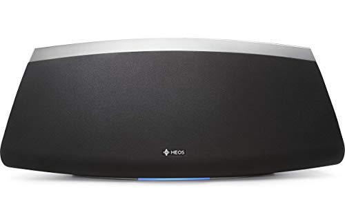 Denon HEOS 7 HS2 Audio-streaming Lautsprecher (Multiroom, Amazon Music, Spotify connect, Deezer, Tidal, Soundcloud, Bluetooth integriert, WLAN, USB, Appsteuerung, Aux-In, Kopfhörerausgang) schwarz