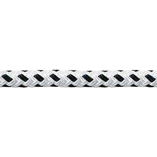 Liros Porto ø10 mm - 5 / 10 / 15 / 20 / 25 / 30 / 40 / 50 m | Bruchlast ca. 2300 kg | Festmacherleine | Ankerleine | Festmacher | in der Farbe Weiß mit schwarzem Kennfaden | Tau | Seil (5 m)