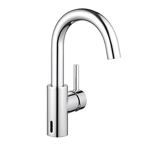ubeegol Waschtischarmatur Hoher Auslauf Wasserhahn Bad Hoch Waschbeckenarmatur 360°drehbar Einhebelmischer Mischbatterie Badarmatur (ohne Zugstangen-Ablaufgarnitur)