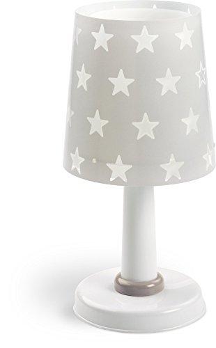 Dalber 81211E A++ to C, Sterne Tischlampe Grau, Plastik, E14, Grey, 15 x 15 x 30 cm