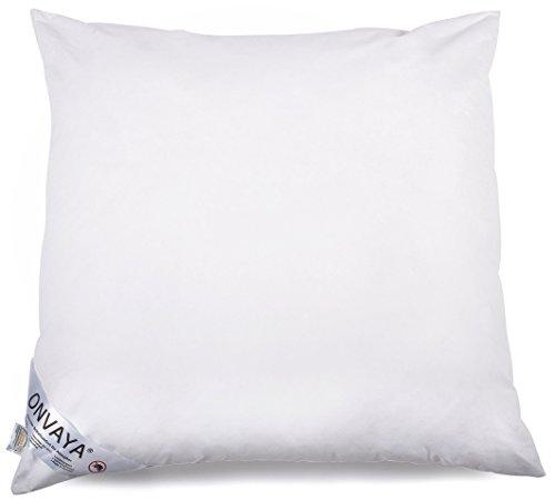 Evolon Premium Allergiker Kissen 80 x 80 cm | Kopfkissen | Hausstauballergie | Milbendicht | Milbenschutz | Antibakteriell | Atmungsaktiv | Made in Germany | ONVAYA