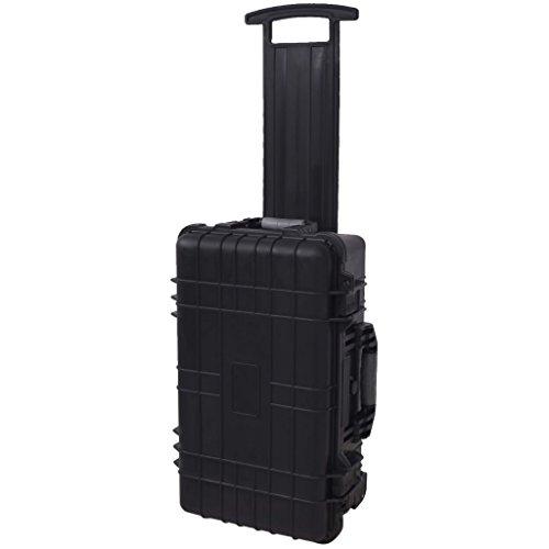 vidaXL Rollender Transportkoffer Fotokoffer Universalkoffer mit Schaum Schwarz