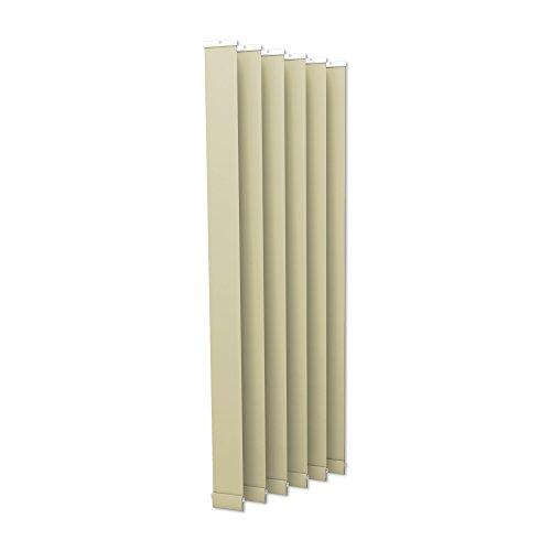 VICTORIA M Lamellenvorhang, Jalousie Isabella - I-Form, leicht lichtdurchlässig - 12,7 x 250cm, weiß | 6er Pack