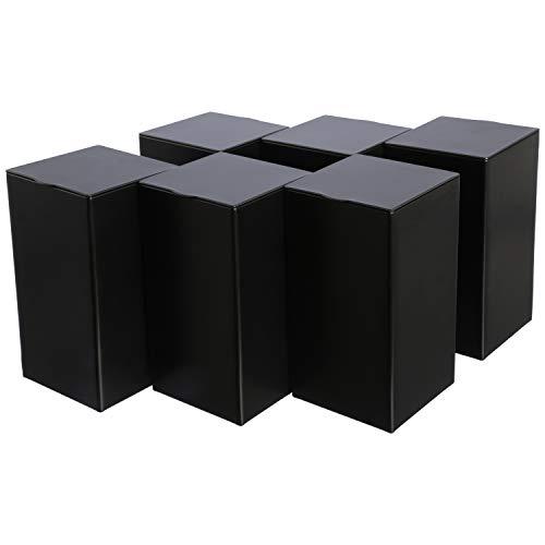 Dosenritter | 6 x eckige Vorratsdose/Teedose, luftdicht aus Metall für 170g | 12.2 x 6.5 x 6.5 cm (H,B,T) | auch ideal als Kaffee- oder Keksdose
