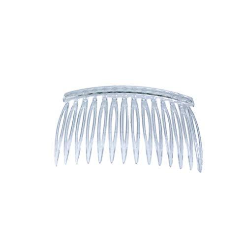LURROSE 10 stücke Transparent Kunststoff Haarspange Kämme Französisch Twist Kamm Draht Haar Seitenkämme Braut Hochzeit Schleier Kämme für Frauen
