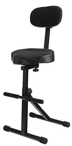 Classic Cantabile ST-200 PRO Stehhilfe Stehstuhl Stehsitz Bügelstuhl (massives Stahlgestell, Gummifüßen, Sitzhöhe 5-Stufig, 57 - 81 cm einstellbar, Sitzfläche BxHxT: 41 cm x 8,5 cm x 37 cm)