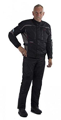 Motowear Motorradkombi P2 Textil - wasserdicht, atmungsaktiv schwarz XXL