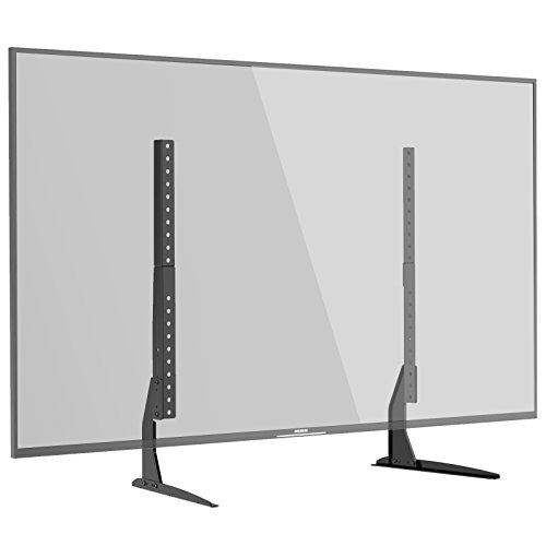 1home Universal Tisch Fernseher Standfuß Fernsehtisch TV Ständer TV Halterung Höhenverstellbar Fernsehstand für LCD LED 22 - 65 Zoll