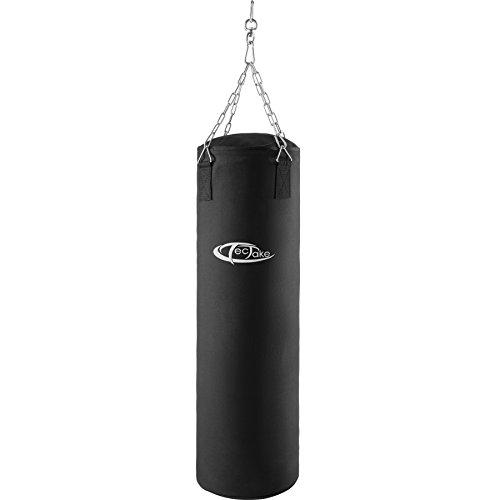 TecTake Boxsack gefüllt mit 25kg inkl. Halterung mit Stahlkette, Drehwirbel und Karabiner   Höhe: 105 cm