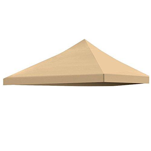 Yaheetech Pavilliondach Ersatzdach wasserdicht für Pavillon Partyzelt Festzelt 3x3 Meter (Beige)
