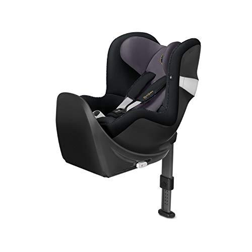 CYBEX Gold Kinder-Autositz Sirona M2 i-Size, Für Kinder ab 45 cm bis 105 cm (max. 19kg), Inkl. Base M, Premium Black