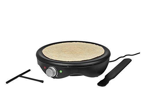 MEDION MD 17204 Crêpes Maker (1.500 Watt, antihaftbeschichtete 38 cm Backplatte, stufenlose Temperaturregulierung) Schwarz