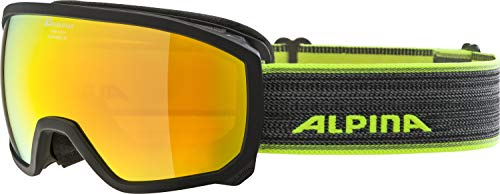 ALPINA Mädchen Scarabeo MM Sph. Skibrille, Black Curry, One Size