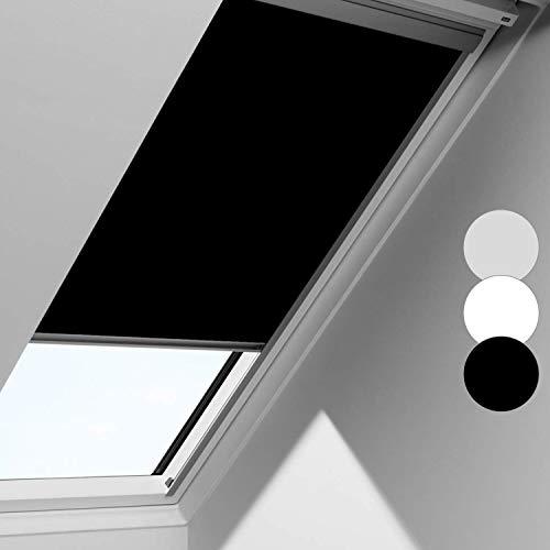 Rollo Schwarz für Fenster Skylight, für 204, 50.7 * 77.4cm, Blickdicht 100% Verdunkelung, Hochqualitative Wertarbeit Stoff