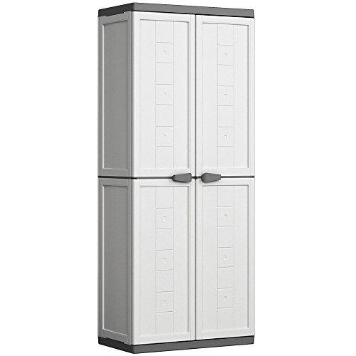 Kis Kunststoffschrank 'Jolly' hoch, 1 Stück, weiß / grau, 9732000 0447 01