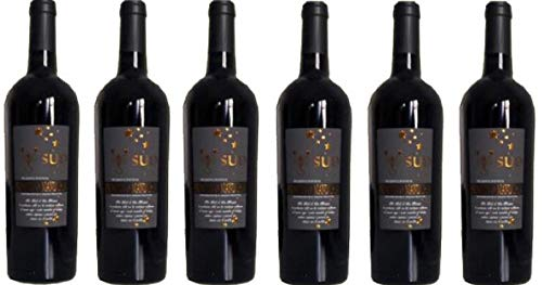 6 er Vorteilspaket SUD Primitivo di Manduria (Etikett mit Skorpion) DOP 2017   Feudi di San Marzano   6 X 0,75 L   Rotwein aus Italien   trocken