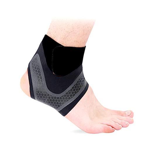 Hually Fußbandage,【1 Paar】 sprunggelenkbandage für Damen und Herren,Linke und rechte Füße,Unterstützt alle Größen,Knöchelbandage stützt den Fuß beim Sport wie Handball, Fußball, Volleyball.